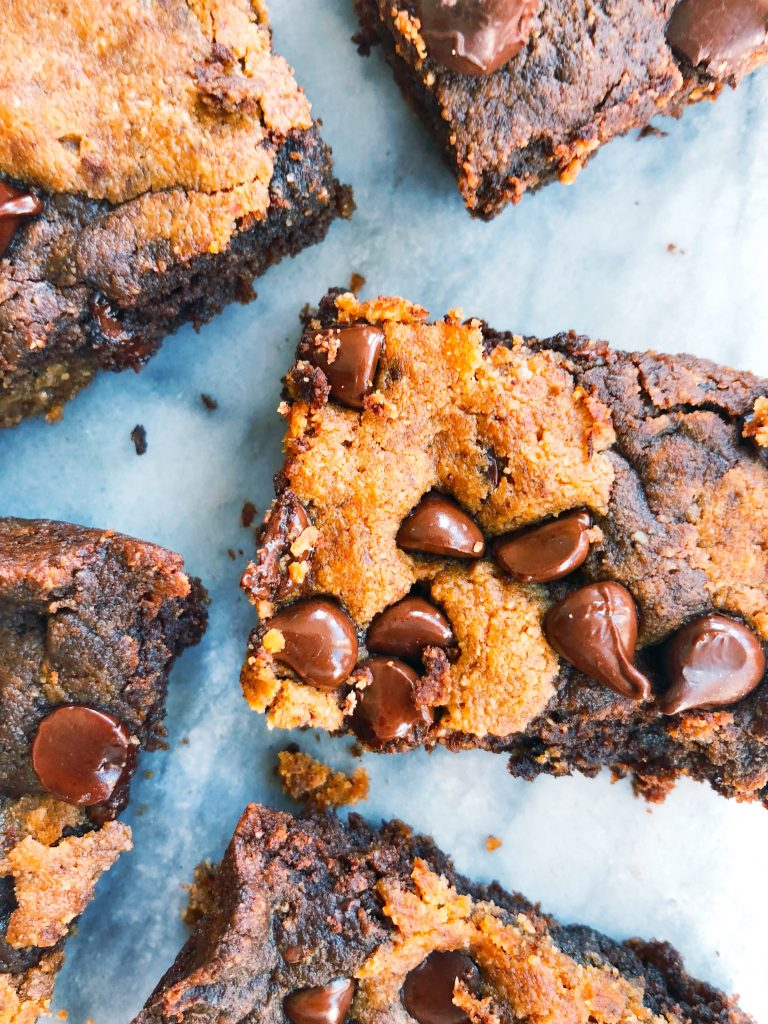 Double Chocolate Pumpkin Brownies