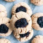 Vegan Tahini Thumbprint Cookies