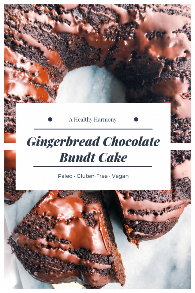 Gingerbread Chocolate Bundt Cake