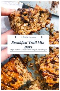 Breakfast Trail Mix Bars