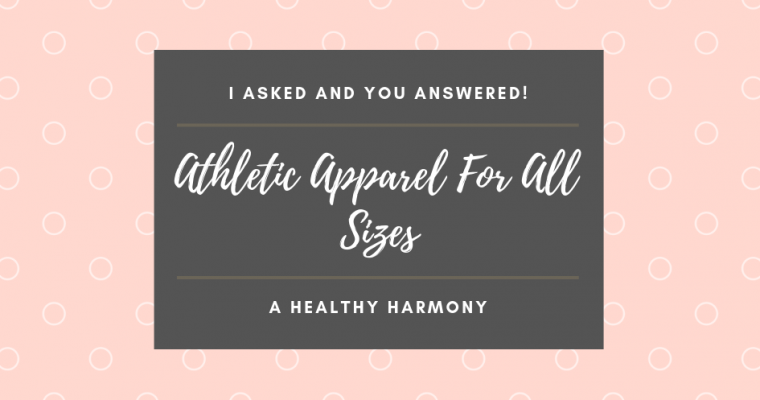 Athletic Apparel For All Sizes