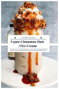 Vegan Cinnamon Date Nice Cream