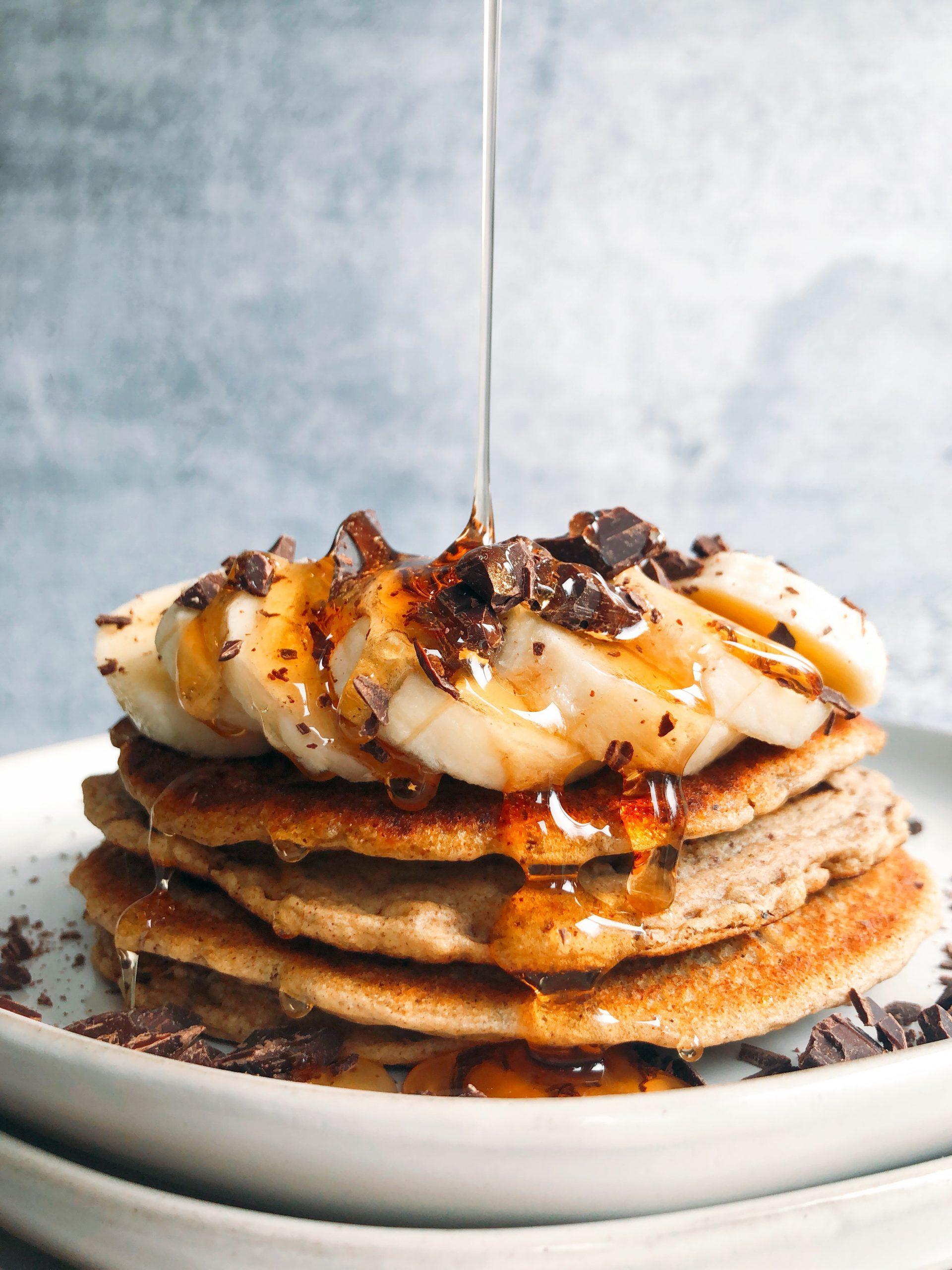 Chocolate Chip Tahini Pancakes