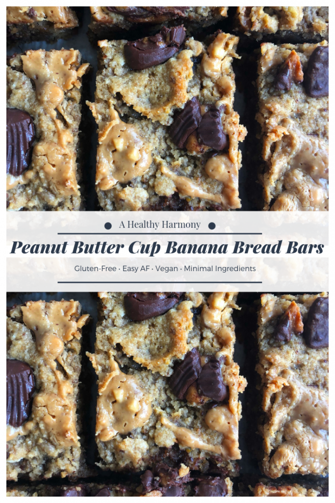 PB Cup Banana Bread Bars