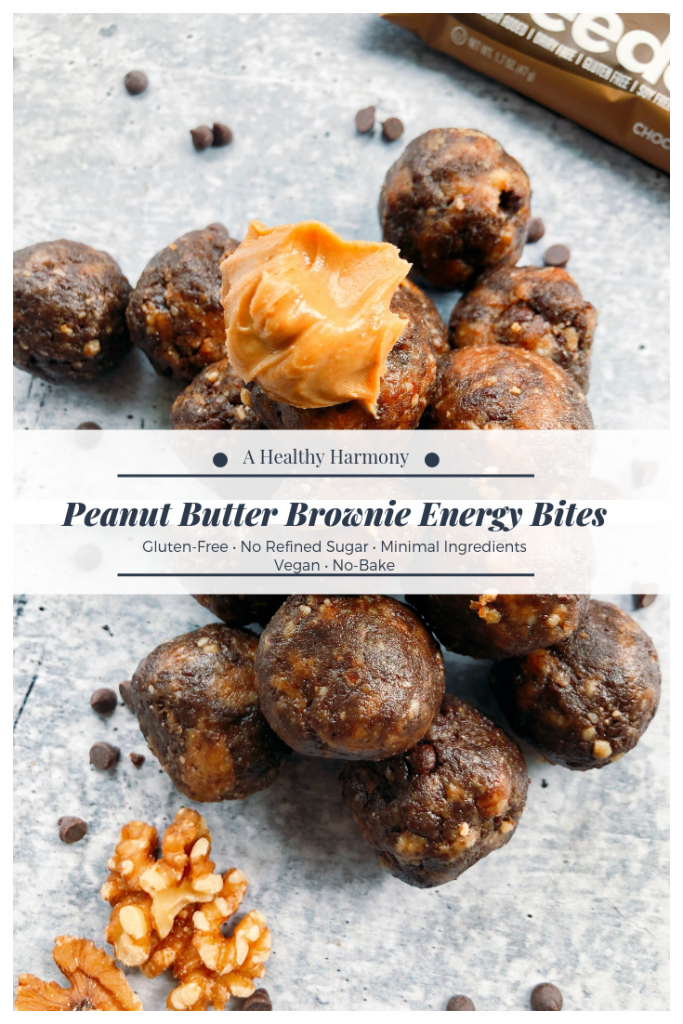 Peanut Butter Brownie Energy Bites