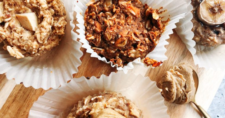 6-Ingredient Baked Oatmeal Cups