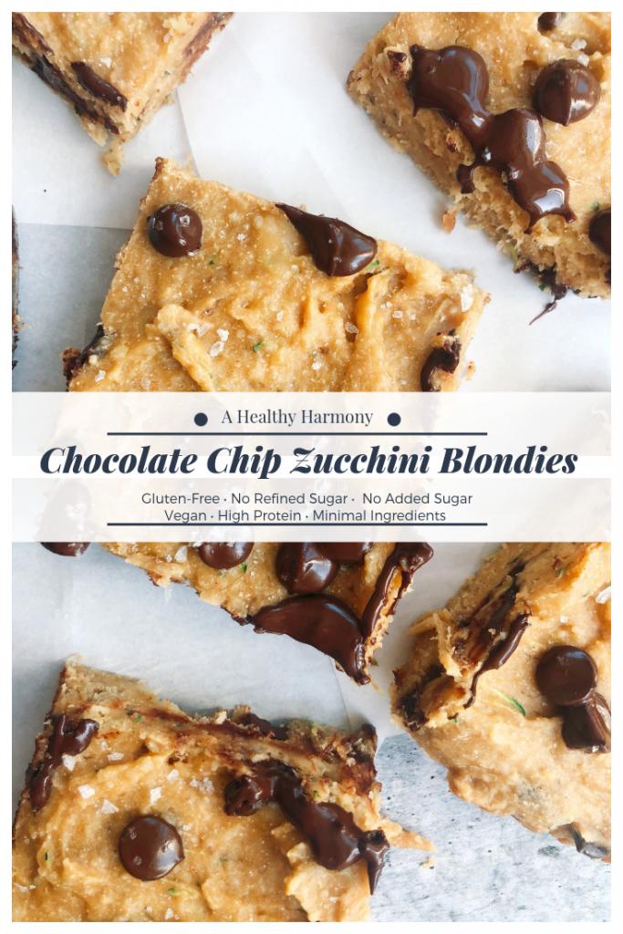 Chocolate Chip Zucchini Blondies