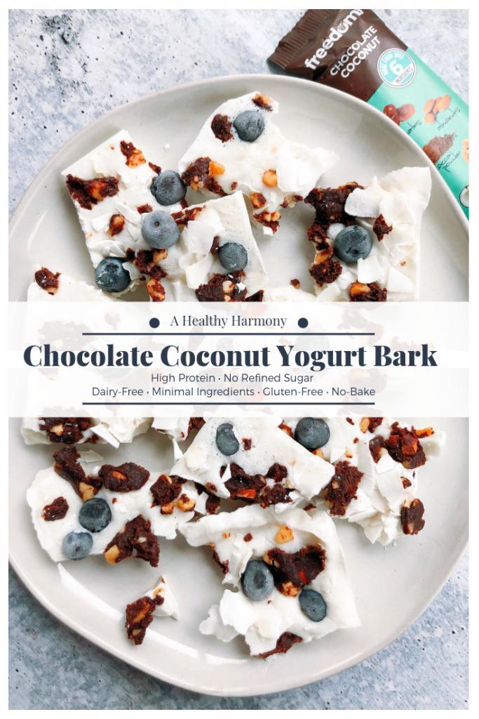 Chocolate Coconut Yogurt Bark