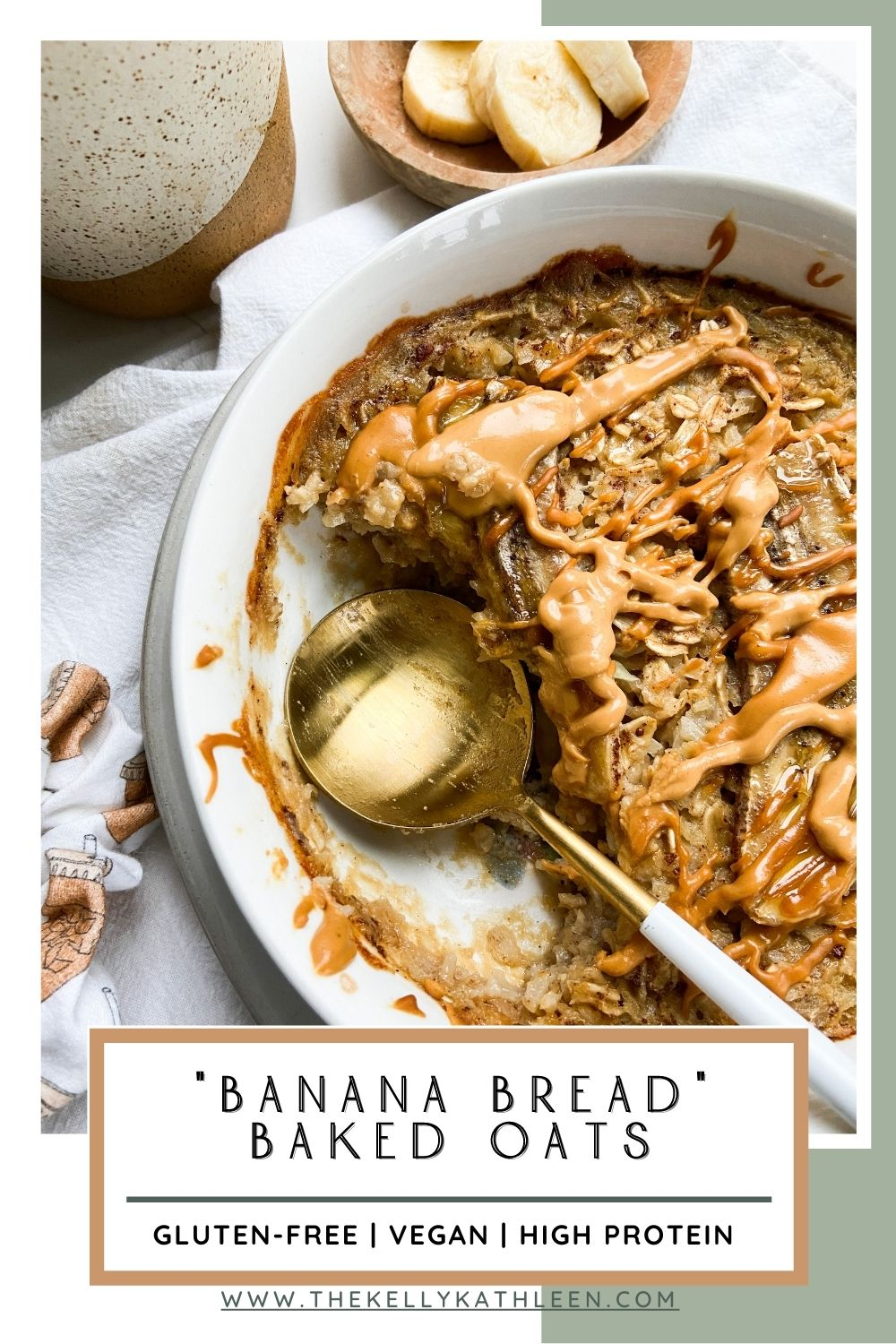 """Banana Bread"" Baked Oats Pin"