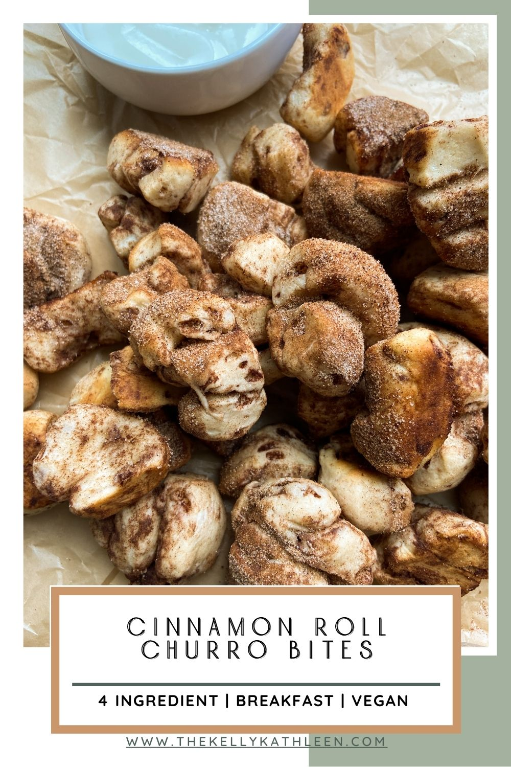 Cinnamon Roll Churro Bites