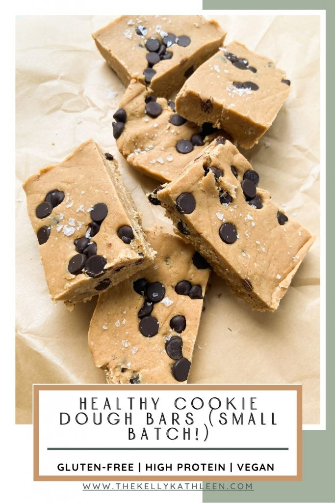 Healthy Cookie Dough Bars (Small Batch!)