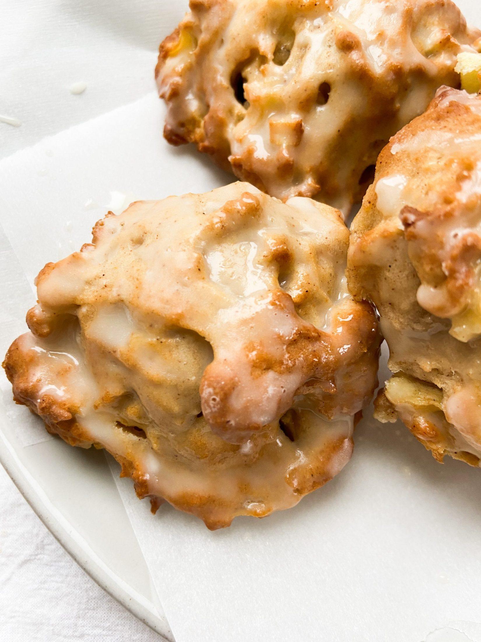 Baked Apple Fritters (V) 📸