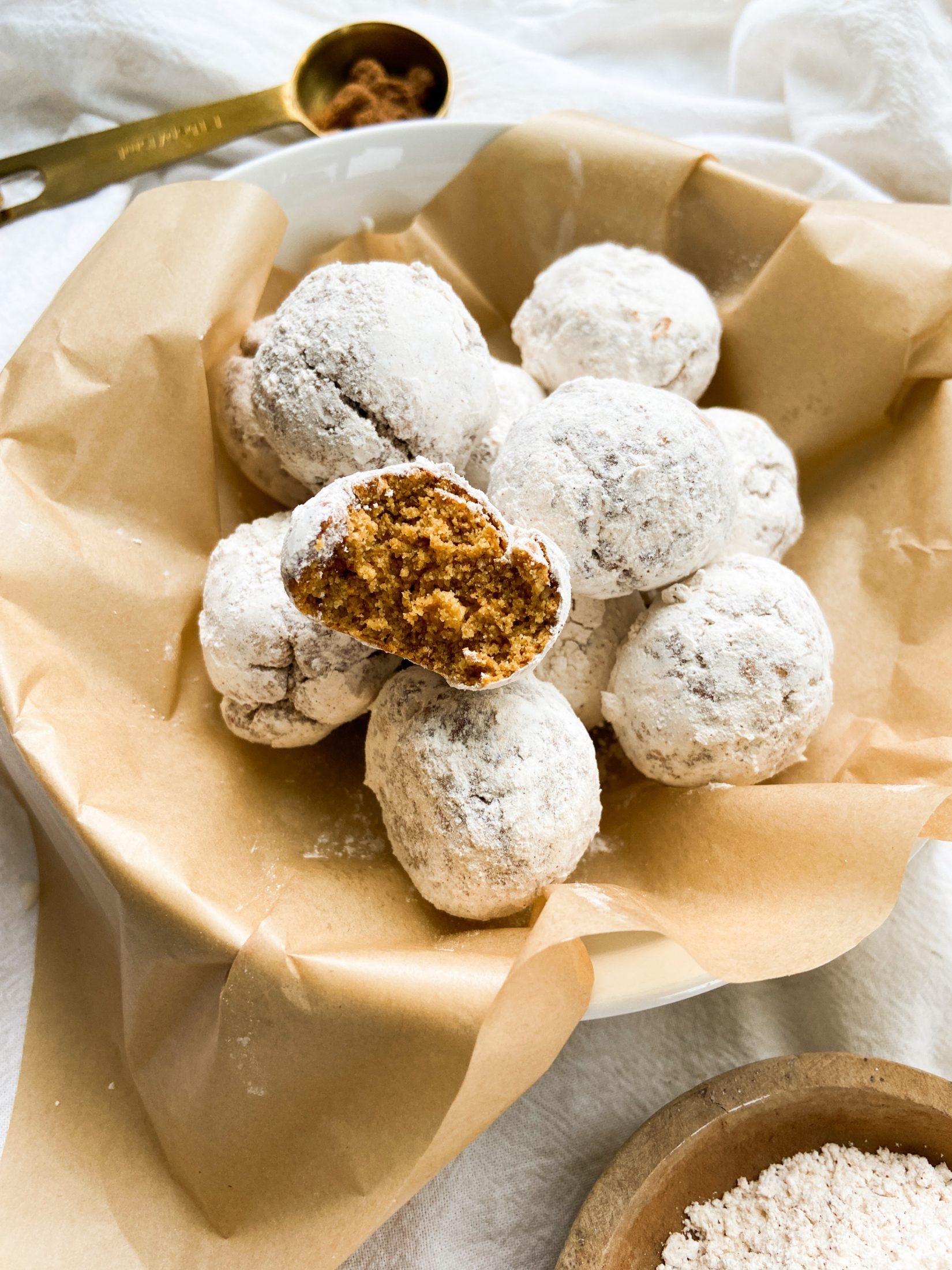 (DF+GF) Gingerbread Donut Holes