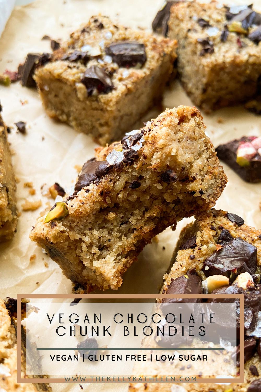 Vegan Chocolate Chunk Blondies