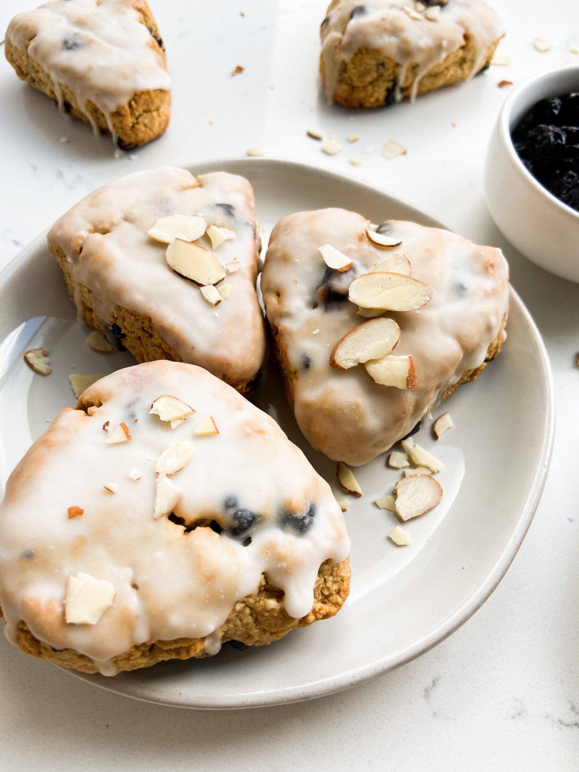 blueberry almond scones
