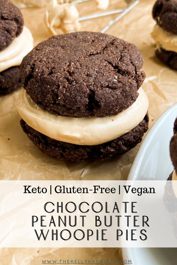 Chocolate Peanut Butter Whoopie Pies pin