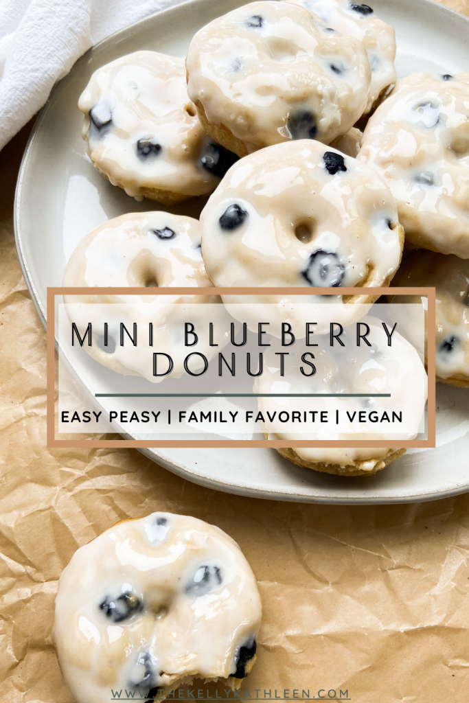 Mini Blueberry Donuts Pin