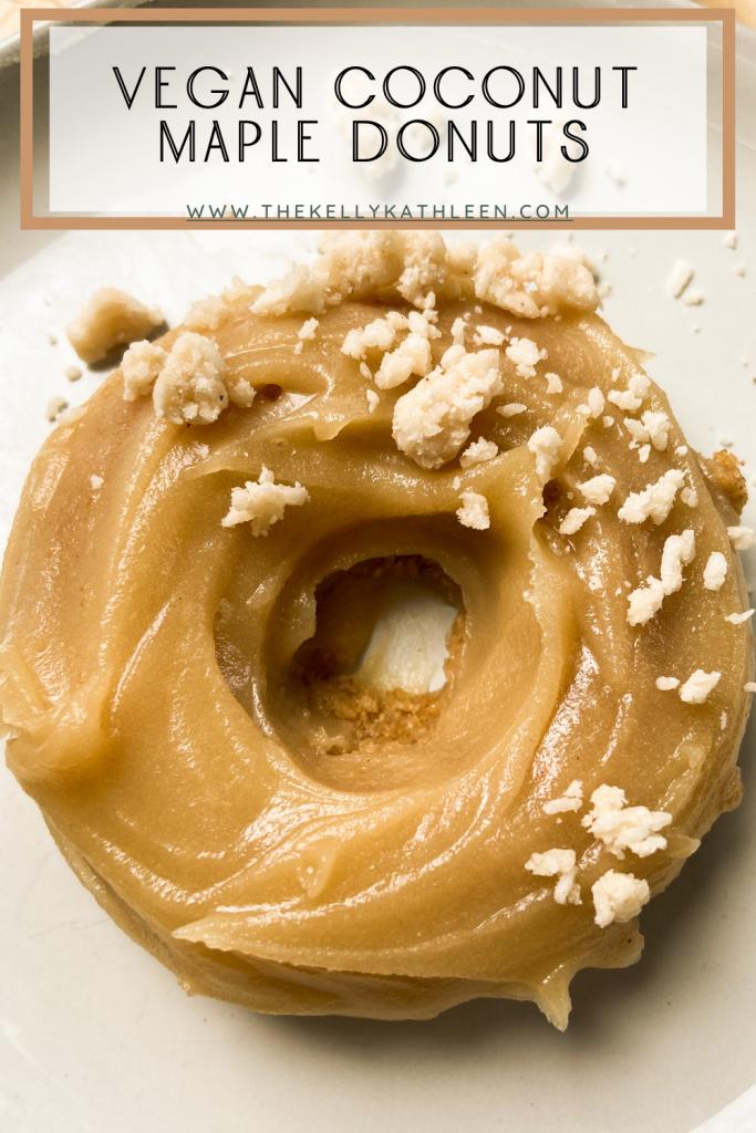 Vegan Coconut Maple Donuts Pin