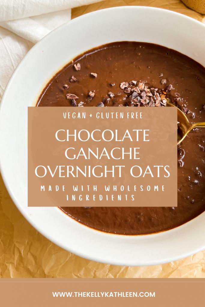 chocolate ganache overnight oats pinterest image